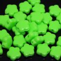 Beads, Acrylic, Light green, Flower shape, 10mm x 10mm x 3mm, 11g, 50 Beads, (SLZ0041)